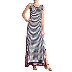 MAX STUDIO Striped Maxi Dress #A15